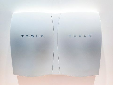 """Elon Musk's Grand Plan to Power the World With Batteries: """"Powerwall""""; Store energy from solar array; Details."""