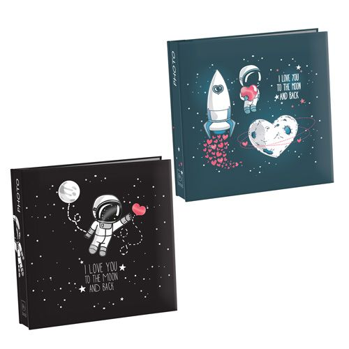 """ALBUM FOTO S446 - album """"I love you to the moon and back"""" 100 foto 13x19 - www.mascagnicasa.it"""