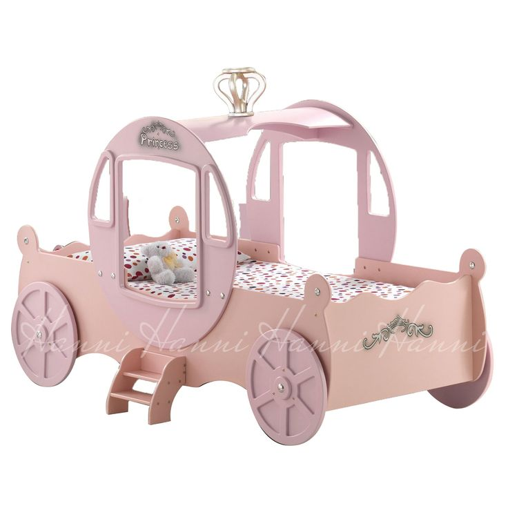 Princess Carriage Pink Bed Frame