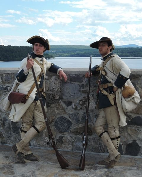 Soldiers from the Languedoc Regt 1756 at Carillon (later named Ticonderoga)