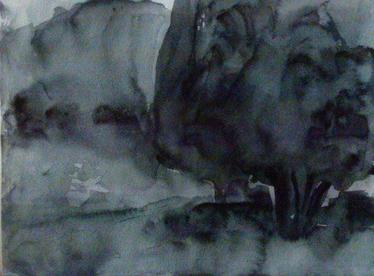A Night in August, Sirkkaliisa Virtanen, watercolor