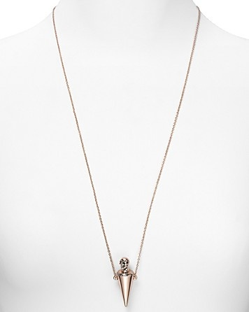 """House of Harlow 1960 Rose Gold Plated Skull Vile Necklace, 28"""" - New Arrivals - Jewelry - Jewelry & Accessories - Bloomingdale's: Plates Skull, Skull Vile, 1960 Rose, Rose Gold"""
