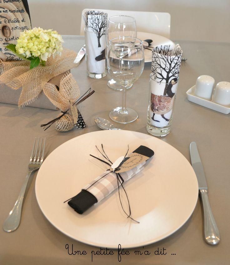 Décoration table communion thème nature