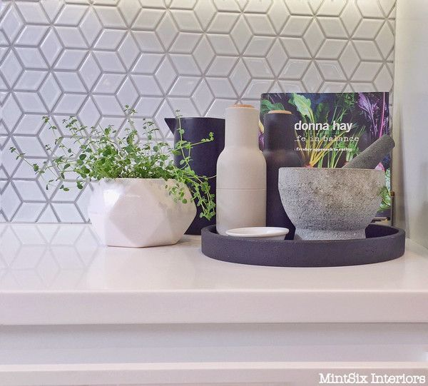 Diamond Tiles   Kitchen Makeover