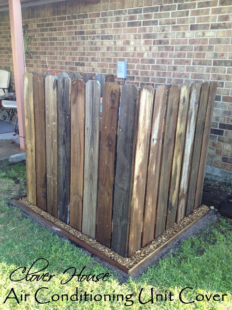 projects for fence boards | Air conditioning unit cover from picket fence