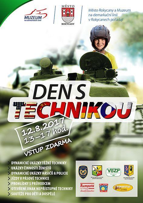 Město Rokycany a Muzeum na demarkační linii v Rokycanech pořádá akci Den s technikou, tedy program zaměřený na prohlídky, ukázky činnosti a jízdy vojenské techniky a techniky integrovaného záchranného systému.