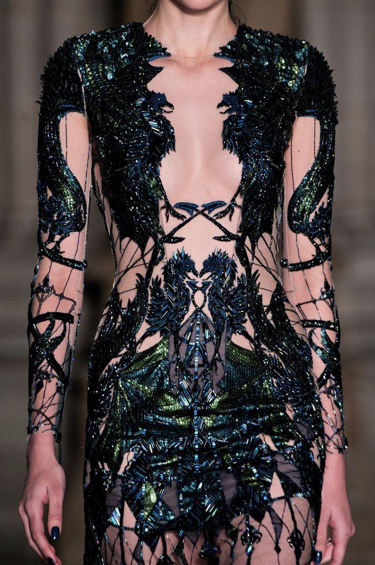 fashioninquality:  Detail at Julien Macdonald Fall Winter 2014   LFW