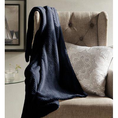 DR International Myrcella Textured Fleece Throw Blanket & Reviews | Wayfair