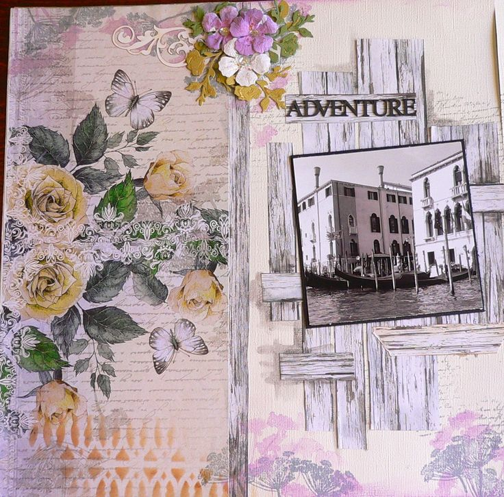 """Created with Ultimate Crafts """"Rambling Rose"""" paper collection Artdeco Creations."""
