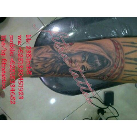 Potrait black n grey by fitra tattoo