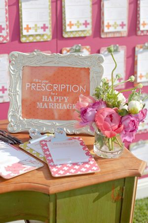 """prescription for a happy marriage guest book, plus love this picture frame---something like that would be perfect framing """"happily ever after starts here"""" for my table!"""