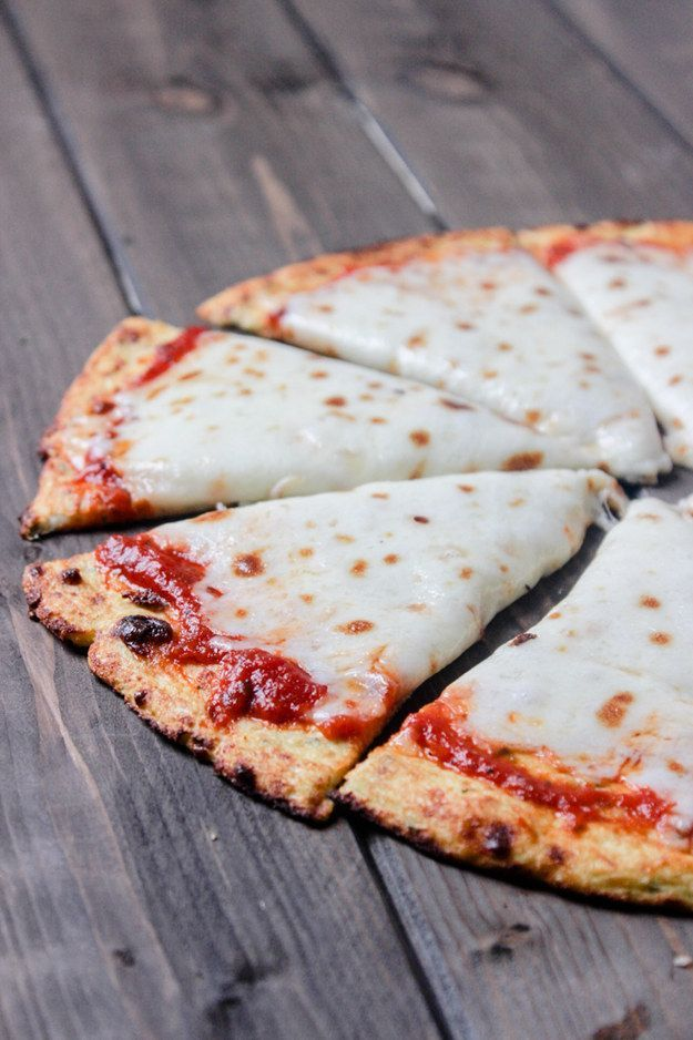 A cauliflower pizza crust. | 24 Crazy Delicious Recipes That Are Super Low-Carb