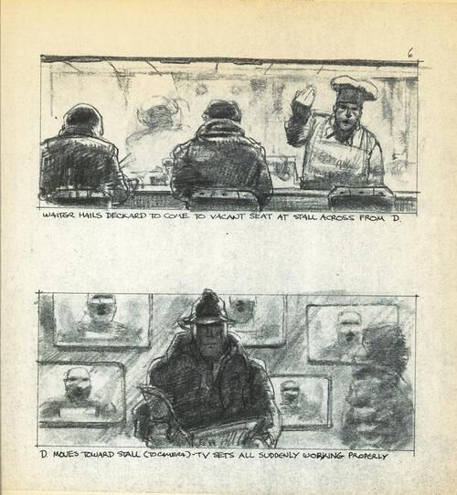 Storyboard from BLADE RUNNER.