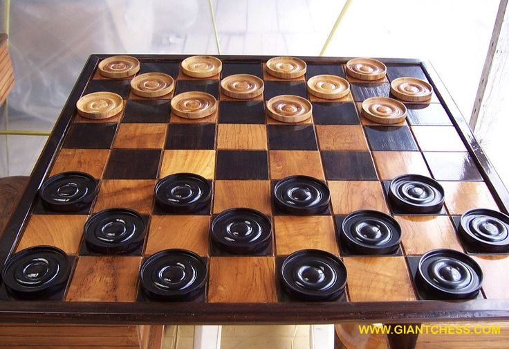 Wooden checker board wooden checkerboard in - 17 Best Images About Games On On Pinterest Vintage