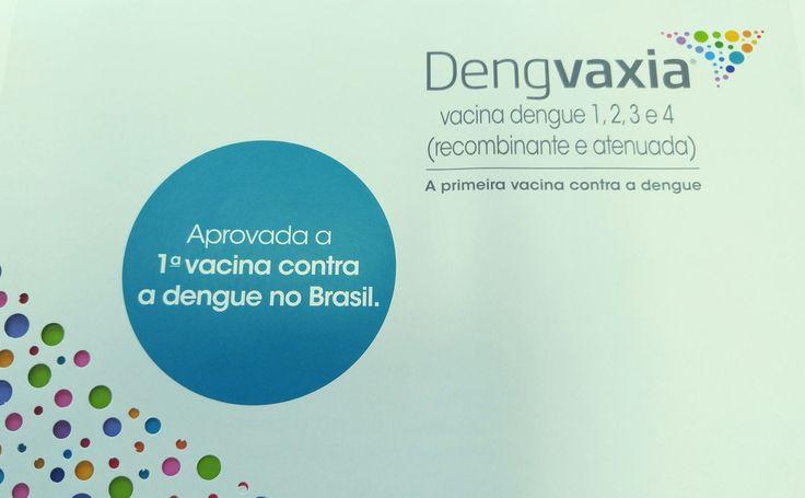 Chegou vacina contra Dengue da França, aplicando 3 doses completas em 0-6-12 meses. Vamos prevenir essa doença endêmica no Brasil !