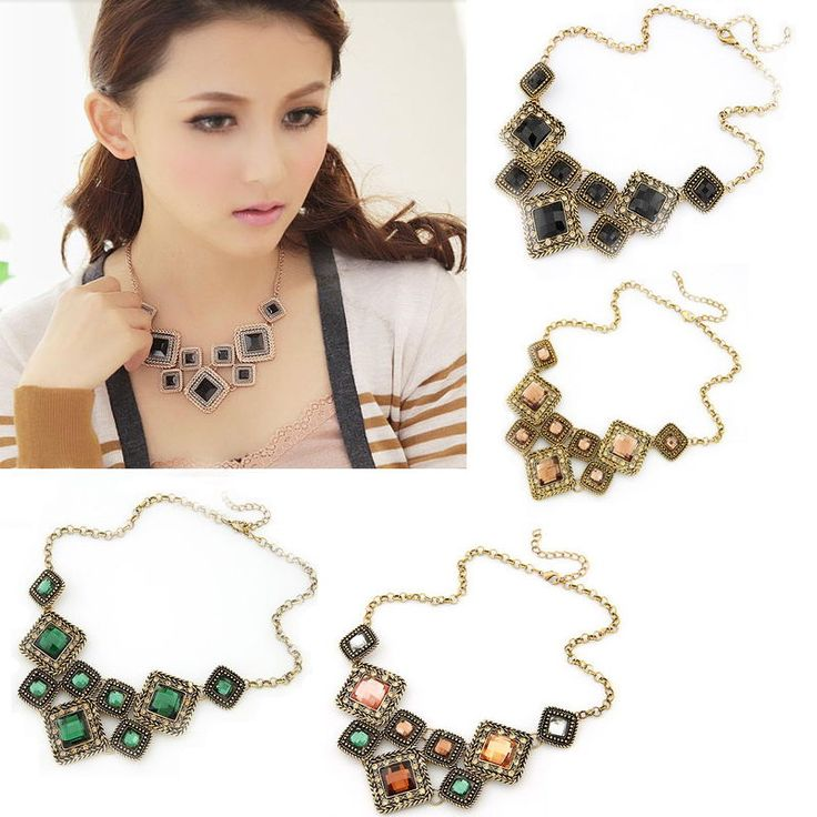 New Beauty Trendy Fashion Jewelry Hot Sell Necklace Gift Pendant Wedding Rinestone Girl Collar Red Green Colorful Wholesale