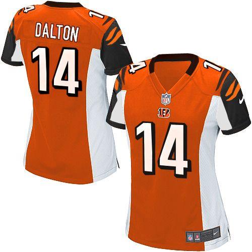 ... Jersey Sale Nike Elite Womens Cincinnati Bengals 14 Andy Dalton  Alternate Orange NFL Jersey109.99 ... 74924f7e1