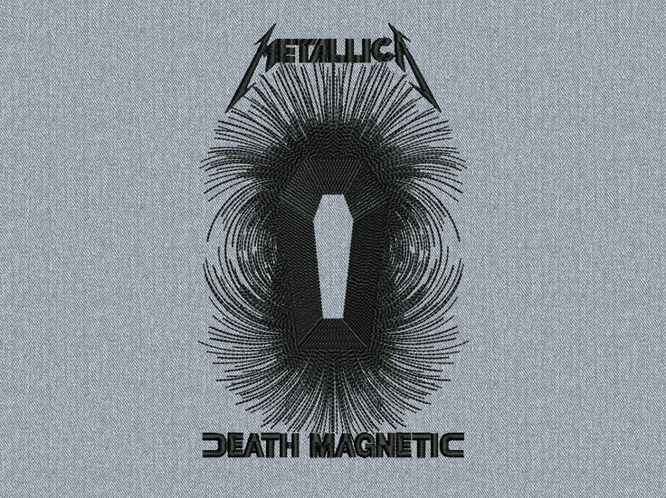 Metallica Death Magnetic Machine embroidery design -  instant download by MachinEMBroideryShop on Etsy