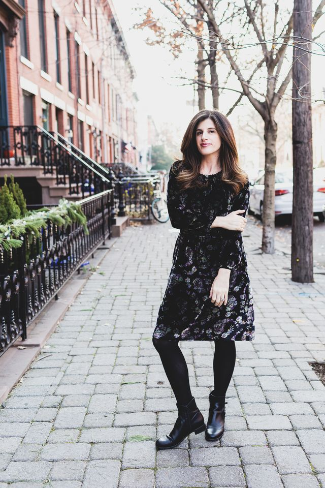 {the sparkly life} Rebecca Taylor Velvet Dress (That I Bought In A Panic Right Before My Dinner With...Christie Brinkley!)