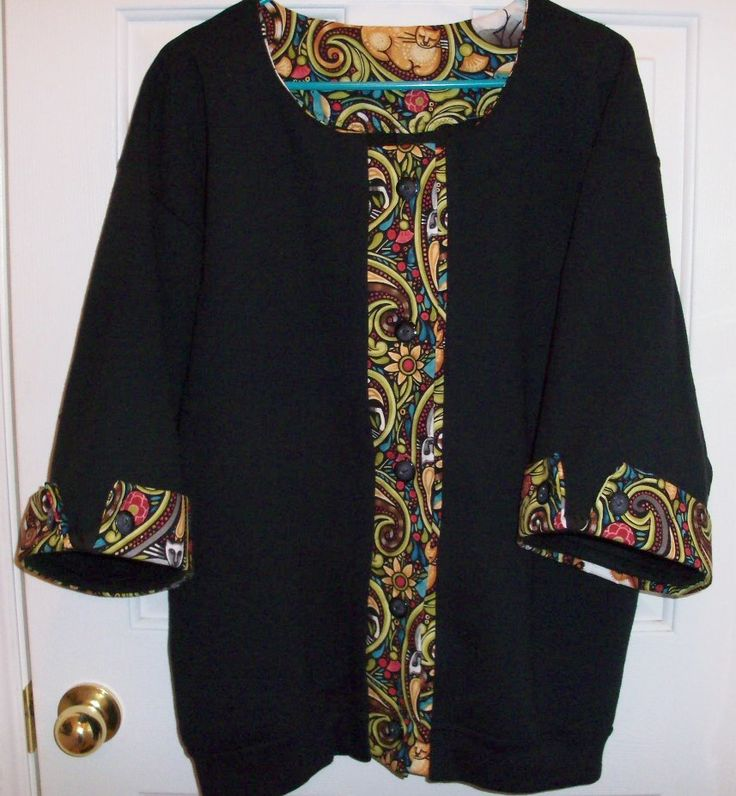 Black sweatshirt converted into a jacket