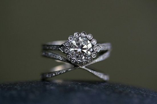 OMG. Cathy Waterman four-way infinity ring ($7060) paired with diamond ring