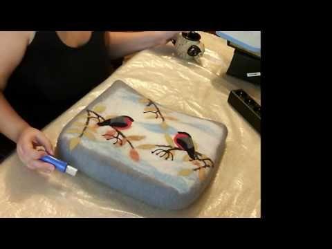 Шлифовка рисунка на сумке - YouTube
