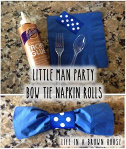 Little Man Party - Bow Tie Napkins via Life in a Brown House blog