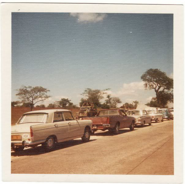 A familiar site travelling around Rhodesia in convoy - to avoid terrorist attacks during the bush war!
