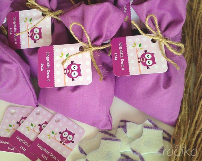 Hoşgeldin bebek hediyeleri, pembe ve mor, lavanta / Baby shower gifts, pink and purple, lavender