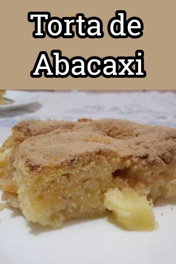 Torta De Abacaxi Receitas Doces E Salgados E Receita De Bolo De