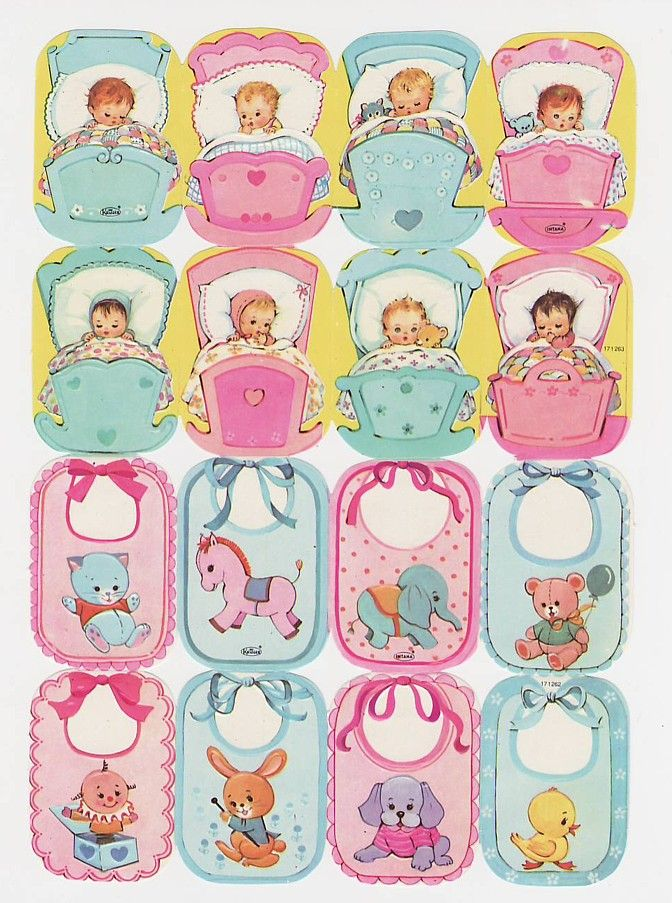 Vintage Die-cut Kruger Baby and Babie Toys Sheet (Image1)