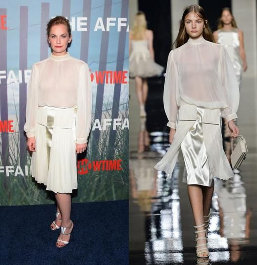 Ruth Wilson wears Christopher Kane Spring '15 to the premiere of 'The Affair'