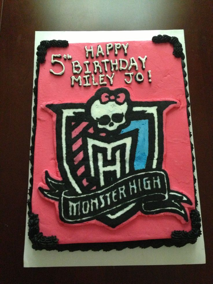 Pictures Of Monster High Sheet Cakes