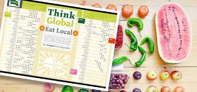 Zu welcher Jahreszeit wächst bei uns eigentlich welches Obst und Gemüse? Eine Übersicht bietet der Saisonkalender von Utopia.de.