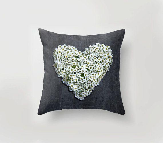 #heart #pillow #love #christmas #homedecor     HEART PILLOW  Unique home decor LOVE art pillow Grey by PilipArt