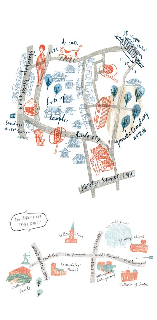 Hand Drawn Maps By MASAKO KUBO