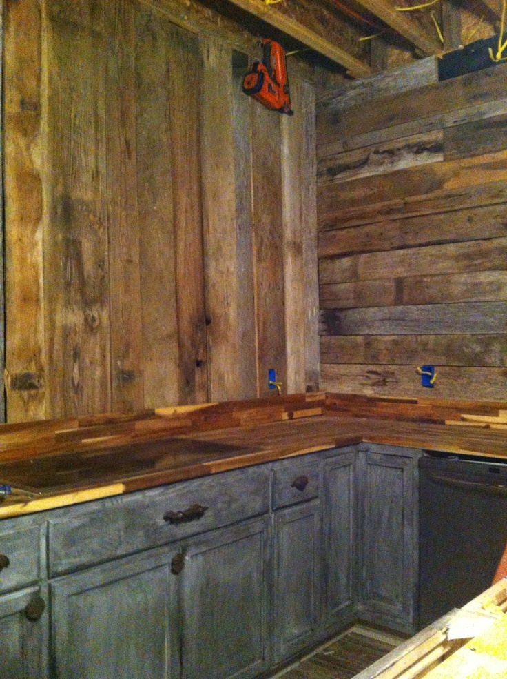 Barn Wood Walls In My Kitchen