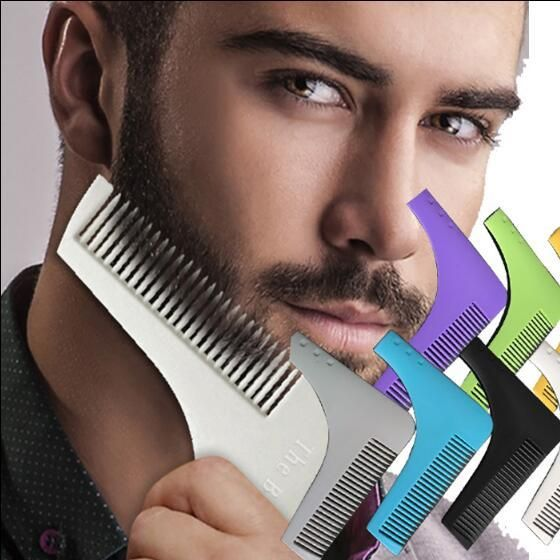 [Visit to Buy] sex men's beard comb brush beard trimmer black hair cut hair molding trim template tools beard shaping tool #Advertisement