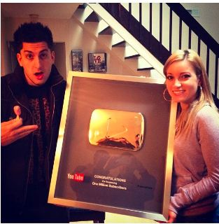 Jesse and Jeana get their Youtube gold award