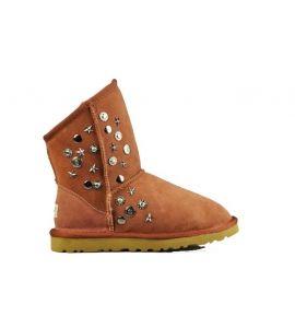 UGG Australia Jimmy Choo Short 5829 Boots Orange $149.00 http://www.theonfoot.com/