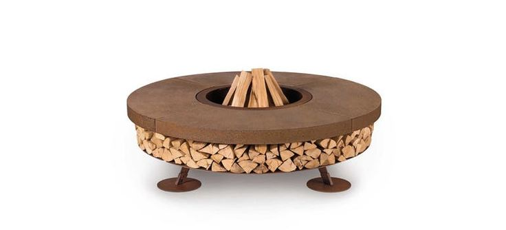 Ercole Fire pit - Contemporary Industrial Organic Rustic / Folk Art Deco Mid-Century / Modern Traditional Fireplace Mantels & Accessories - Dering Hall