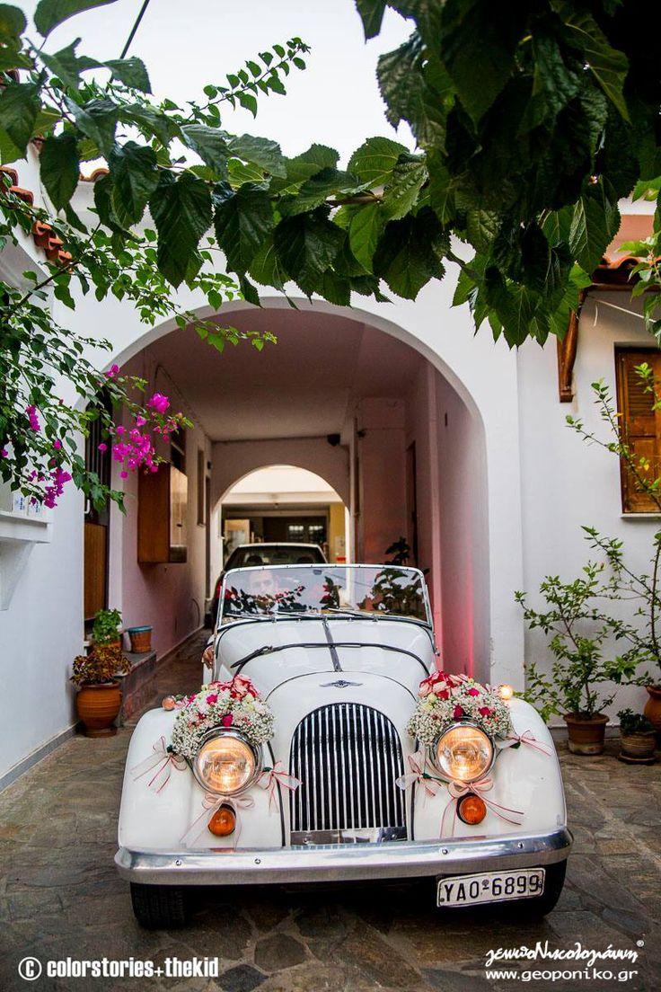 στολισμός νυφικού αυτοκινήτου αντίκα_ bridal car, romantic