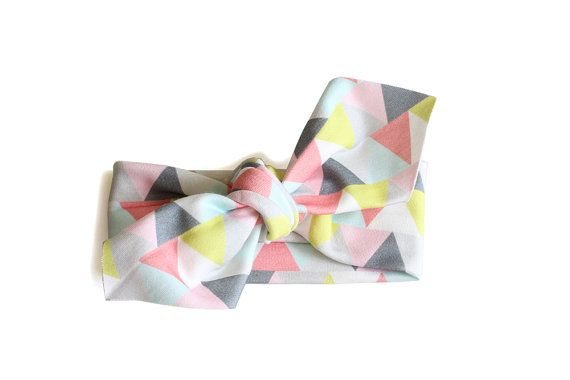 Baby Headband  Pointed End  Triangle Parade  by oubaaustralia