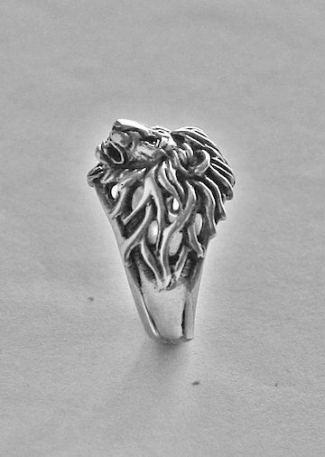 Lion head ring Lion ring for manRing forman by yurikhromchenko