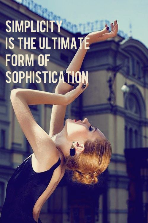 Keep it simple! #Fashion #Quote