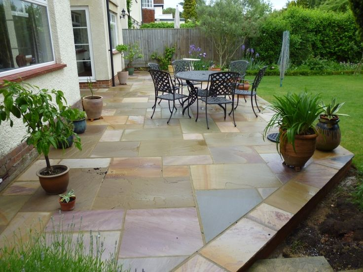Elegant These Natural Sandstone Paving Slabs Look Beautiful Both Wet And Dry And  The Warm Tones Are