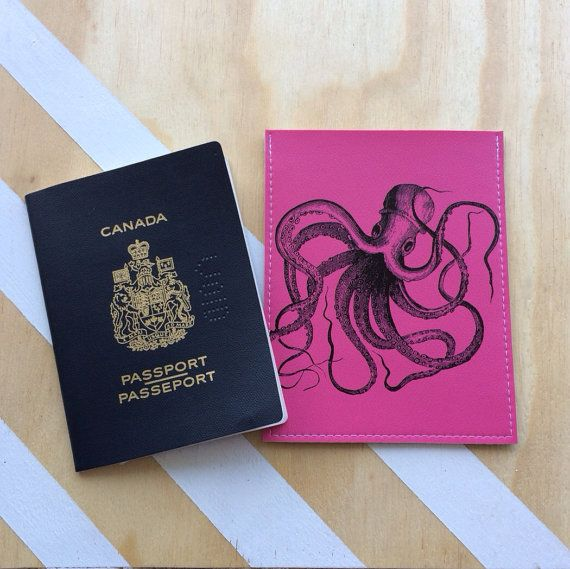 Keep your travel docs in one place with Majesty Industries super funky octopus passport case. #MakeItEdmonton