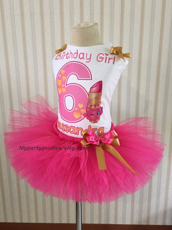 Shopkins Tutu Set-Shopkins Birthday Outfit-Shopkins Lippy Lip Tutu-Shopkins…