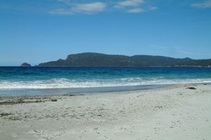 White beaches Bruny Island