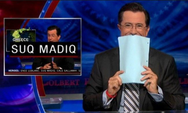 BEST OUTTAKE MONTAGE EVER. Supercut Of All The Times Stephen Colbert Broke Character